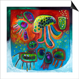 Jellyfish Party Prints by Susse Volander