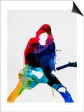 Johnny Watercolor Posters by Lora Feldman