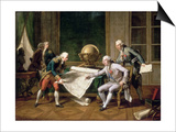 Louis XVI Gives Instructions to Captain La Perouse, 29 June 1785 Prints by Nicolas Andre Monsiaux