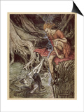 Loke and Rhine Maidens Prints by Arthur Rackham