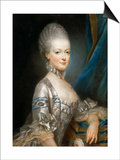 Portrait of Archduchess Maria Antonia of Austria (1755-179) Art by Joseph Ducreux