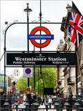 Westminster Station Underground - Subway Station - London - UK - England - United Kingdom - Europe Posters by Philippe Hugonnard