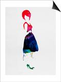 Diana Watercolor Posters by Lora Feldman