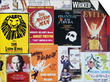 NYC Street Art - Patchwork of Old Posters of Broadway Musicals - Times Square - Manhattan Prints by Philippe Hugonnard