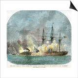 The Naval Combat in Mobile Harbour, Alabama, American Civil War, 5 August 1864 Prints by EB Hough