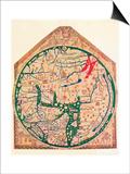 The Hereford Mappa Mundi, (C128), 1912 Plakater af Richard de Bello
