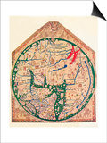 The Hereford Mappa Mundi, (C128), 1912 Prints by Richard de Bello