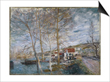 Flood at Moret (Inondation A More), 1879 Prints by Alfred Sisley