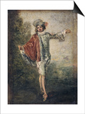 The Indifferent One, 1717 Plakater af Jean-Antoine Watteau