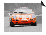 Porsche 911 Race Track Watercolor Posters by  NaxArt