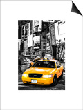 NYC Yellow Taxis / Cabs in Times Square by Night - Manhattan - New York Posters by Philippe Hugonnard