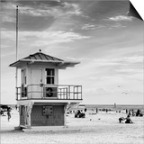 Beach Scene in Florida with a Life Guard Station Prints by Philippe Hugonnard