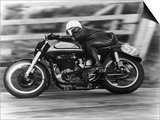 A Norton in Action in the Isle of Man TT, 1950 Affiches