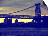 The Williamsburg Bridge at Nightfall - Lower East Side of Manhattan - New York City Prints by Philippe Hugonnard