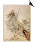 Shakespeare; Titania Póster por Arthur Rackham