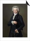 Portrait of Maximilien De Robespierre (1758-179) Kunstdrucke von Pierre Roch Vigneron