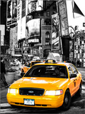 NYC Yellow Taxis / Cabs in Times Square by Night - Manhattan - New York City - United States Kunst af Philippe Hugonnard