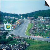 Part of Spa-Francorchamps Race Track, Belgian Grand Prix, Belgium, 1963 Poster