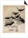 The Seven Ravens Láminas por Arthur Rackham