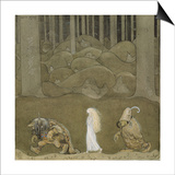 John Bauer - The Princess and the Trolls Obrazy