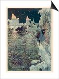 The Seven Ravens 2 Láminas por Arthur Rackham