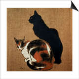 Two Cats, 1894 Posters by Theophile Alexandre Steinlen