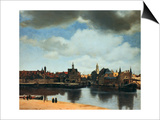View of Delft, Netherlands, after the Fire, C1658 Posters by Jan Vermeer
