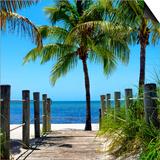 Boardwalk on the Beach - Key West - Florida Poster by Philippe Hugonnard