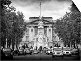 Buckingham Palace and Black Cabs - London - UK - England - United Kingdom - Europe Prints by Philippe Hugonnard