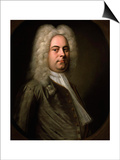 George Frideric Handel, German Composer, 1726-1728 Prints by Balthasar Denner