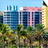 Art Deco Colors Architecture of Miami Beach - South Beach - Florida Poster by Philippe Hugonnard