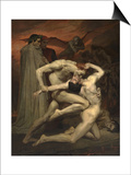 Dante and Virgil in Hell Prints by William-Adolphe Bouguereau