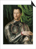Portrait of Grand Duke of Tuscany Cosimo I De' Medici (1519-157) in Armour Plakater af Agnolo Bronzino