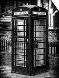 Old Black Telephone Booth on a Street in London - City of London - UK - England - United Kingdom Poster by Philippe Hugonnard