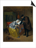 Sick Woman Poster by Jan Havicksz Steen