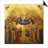 The Coronation of the Virgin, 1434-1435 Print by  Fra Angelico