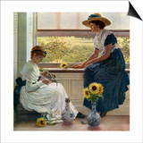 Sun and Moon Flowers, 1890 Posters by George Dunlop Leslie