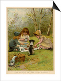Children Eating a Picnic in the Woods Print