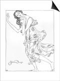 Isadora Duncan, Klods Print by Valdemar Andersen