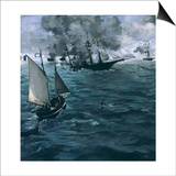 The Battle of the Kearsarge and the Alabama, 1864 Posters by Édouard Manet