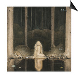 Princess Tuvstarr Is Still Sitting There Wistfully Looking into the Water, 1913 Prints by John Bauer