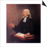 John Wesley, 18th Century English Non-Conformist Preacher Print by William Hamilton