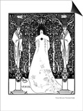 Venus Between Terminal Gods Art by Aubrey Beardsley