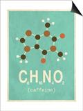 Molecule Coffeine Kunst