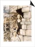 Maid Maleen, Rackham Póster por Arthur Rackham
