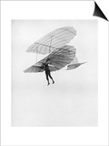 Otto Lilienthal Makes One of His Last Flights, 1896 Poster