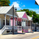 Key West Architecture - The Pink House - Florida Posters by Philippe Hugonnard