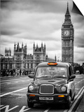 London Taxi and Big Ben - London - UK - England - United Kingdom - Europe Posters by Philippe Hugonnard