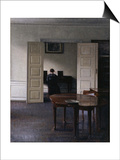 Interior with Ida Playing the Piano Prints by Vilhelm Hammershoi