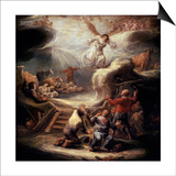The Annunciation to the Shepherds, 17th Century Prints by Benjamin Gerritz Cuyp